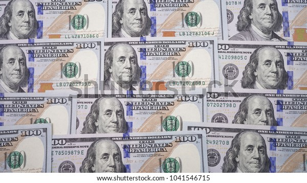 100 Dollar Bill Wallpaper Texture Covered Royalty Free