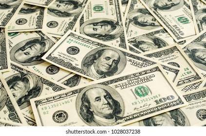100 dollar bills as a background