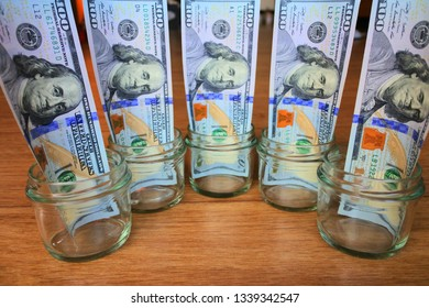Dollar Bill Bottle Images, Stock Photos & Vectors | Shutterstock