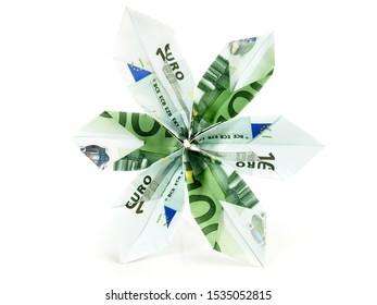 100 EURO Origami Money Blossom