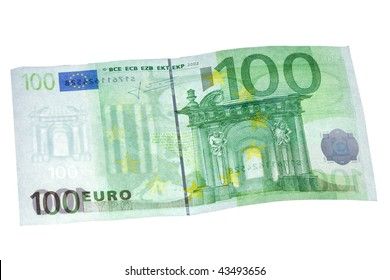 100 euros banknote isolated on white
