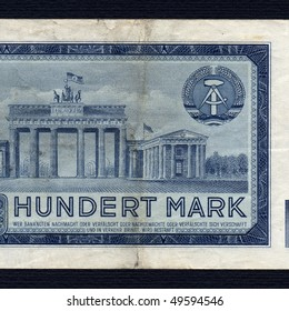 100 Mark banknote from the DDR (East Germany) - Note: no more in use since german reunification in 1990