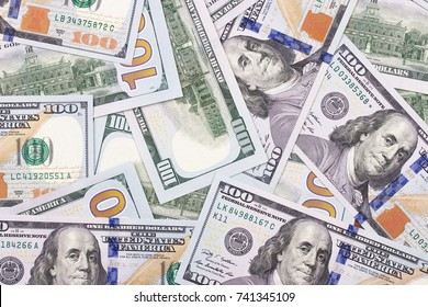 100 US dollar abstract money cash background