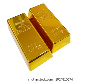 1000 grams of gold bar placed on a white background.