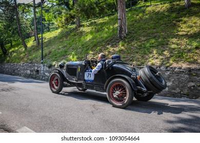 1000 Miglia 2018, Castello di Brescia, Brescia - Italy. May 16, 2018. Fiat 514 S, number 71 year 1930