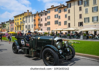 1000 Miglia 2018, Piazza Arnaldo, Brescia - Italy. May 16, 2018. Fantastic Bentley 4,5 LITRE OPEN TOURER  La corsa più bella del Mondo