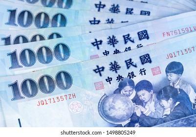 1000 New Taiwan Dollar banknote, Cash