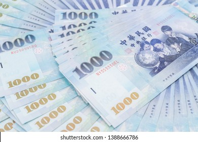 1000 New Taiwan Dollars isolated on white background