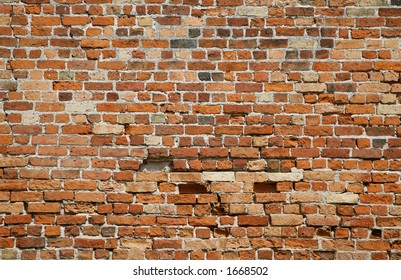 1000 years old brick wall.