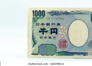 1,000 Yen Japan's banknote on many different currency banknotes