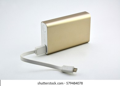 10,050 milliamperes Rechargeable Lithium Ion Gold Powerbank