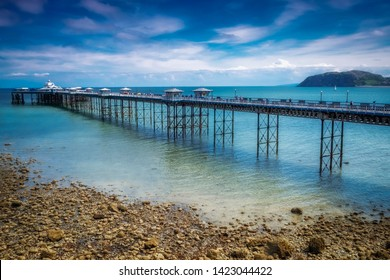 10/06/2019 Llandudno Pier, Gwynedd, North Wales, UK Llandudno Pier is a Grade II* listed pier in the seaside resort of Llandudno, North Wales, At 2,295 feet, the pier is the longest in Wales.