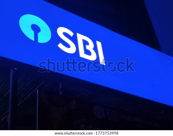10/07/2020 colachel,india - logo of state bank of india