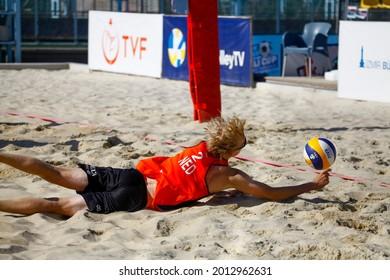 10-07-2021 İzmir CEV U20 Beach Volleyball European Championships 2021 Dutch Player Ooijman Siem