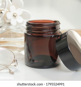 100ml Amber Glass Jar for Candle Making
