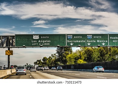 101 freeway in Los Angeles. California, USA