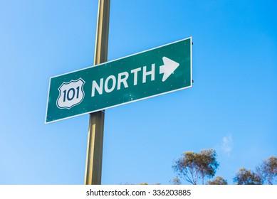 101 Freeway North Sign