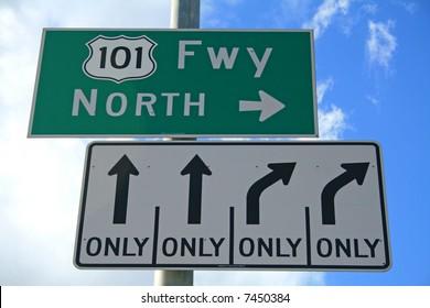 101 North Sign - Ventura Highway