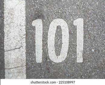 101 on pavement