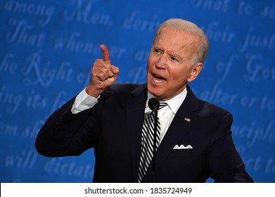 10/18/2020,USA:Democratic Presidential candidate and former US Vice President Joe Biden speaks during the first presidential debate at the Case Western Reserve University and Cleveland Clinic.