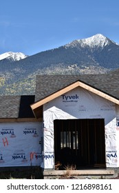 10/27/18 Flagstaff Arizona New home construction in Flagstaff Arizona with the San Francisco Peaks in the background
