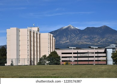 10/27/18 Flagstaff Arizona Sechrist Hall the tallest building in Flagstaff built in 1967 a dormitory at Northern Arizona University