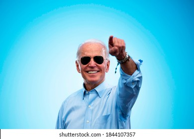 10/30/2020,USA:A photo of vice president of the United States,Joe Biden smiling.