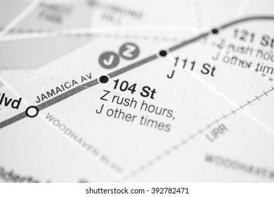 104 St. Nassau Street Express Line. NYC. USA