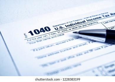 1040 Tax forms close-up