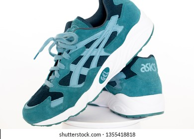 1.04.2019 BUCHAREST ROMANIA  new model of asics shoes - asics diablo BUCHAREST ROMANIA 1.04.2019
