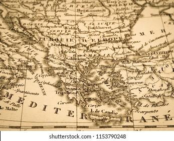 10/5000 Girisha no kochizu Greek old map