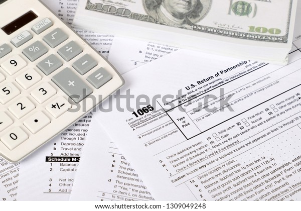 form 1065 calculator  14 Tax Form Lies Near Hundred Stock Photo (Edit Now ...