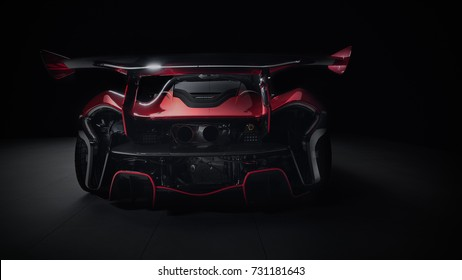 10/7/17 - Philadelphia,PA - Celebrating 20 years since victory in the 95 24 Hours of Le Mans, McLaren resurrected the GTR name by launching a track-only version  P1 GTR. Full rear
