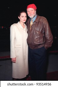 """10DEC98:  Actor JON VOIGHT & actress daughter ANGELINA JOLIE at world premiere of her new movie """"Playing by Heart"""" in which she stars with Sean Connery & Gillian Anderson.  Paul Smith / Featureflash"""