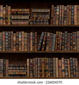 10of15 Old books seamless texture (vertically and horizontally). Tiled Bookshelf Background. Also tiled with other 15 textures from same pack in my gallery.