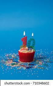 10th Birthday cupcake portrait