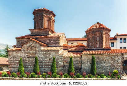 The 10th Century Orthodox monastery church of St. Naum, on the shores of Lake Ohrid, Macedonia
