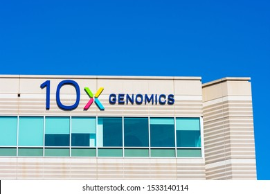 10x Genomics headquarters campus in Silicon Valley. 10x Genomics is American biotechnology company designs and manufactures gene sequencing technology - Pleasanton, California, USA - 2019