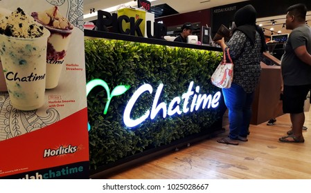 11 February 2018, Kuala Lumpur Malaysia: Chatime franchise  stalls,a Malaysian favourite tea handmade bevarages.