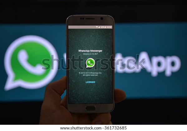 11 January 2016, Istanbul - Turkey: WhatsApp Messenger is a proprietary, cross-platform instant messaging subscription service for smartphones with Internet access founded in 2009.