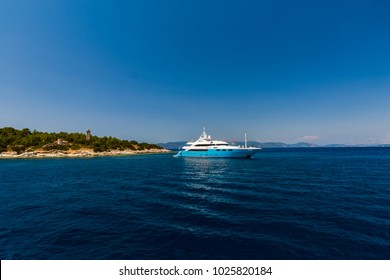 11 July 2017, Boat in Ionian Sea cross Lefkada island to Kefalonia Island,Greece
