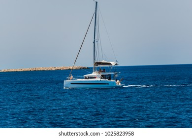 11 July 2017, boats near Fiskardo harbour, Kefalonia island ,Greece
