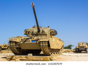 11 May 2018 Discarded military vehicles on HarAdar (Radar Hill) Monument. The site is dedicated to the memory of the soldiers of the Palmach's Harel Brigade who fell during the War of Independence