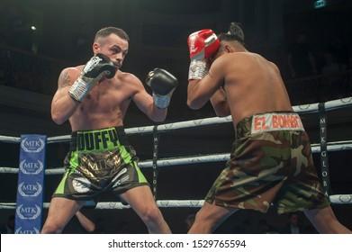 11 October, 2019 - Ulster Hall, Belfast, UK - MTK Fight Night - Sean Gerard Duffy vs Edwin Tellez