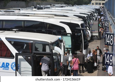 11 September 2010. Istanbul / Turkey. Bus terminal in Esenler district of Istanbul.