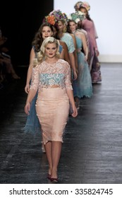11 September 2015 - New York,USA - Ashley Nell Tipton Project Runway season 14 Finale collection at New York Fashion Week Spring Summer 2016 at Moynihan station