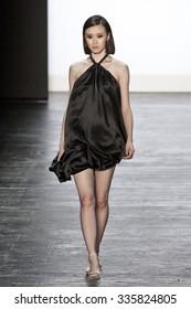 11 September 2015 - New York,USA - Edmond Newton Project Runway season 14 Finale collection at New York Fashion Week Spring Summer 2016 at Moynihan station