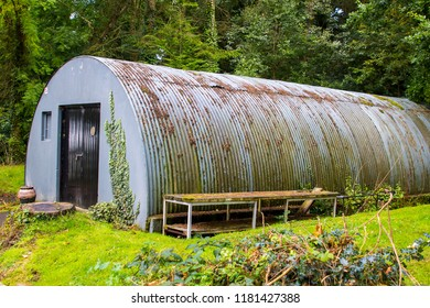 11 September 2018 An historic Nissen hut at Beech Hill Country House Hotel in Londonderry in Northern Ireland. This 2nd World War building is now used as a mun American Navy Base One Museum