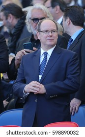 11.03.2017.  Rome, Italy. Rbs Six Nations Italy versus France. Prince Albert II of Monaco attended  the RBS Six Nations match between Italy and France at Stadio Olimpico on March 11, 2017 in Rome.