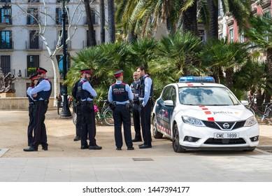 11.03.2018 Barselona Spain Armed response vehicle